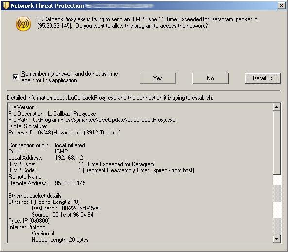 Interface design failures – Symantec Endpoint Protection
