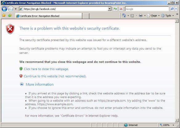 Internet Explorer 8 SSL cert handling