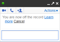 Google Chat: You are now off the record