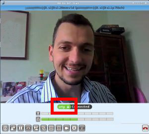 encrypted video call