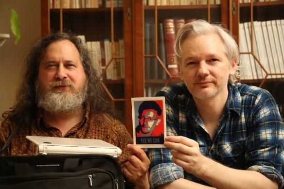 Stallman, Assange, Snowden