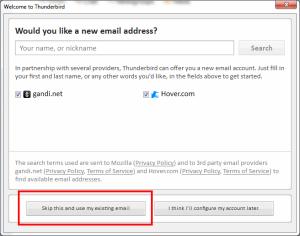 02 TB first run - new mail address